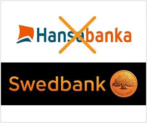 Bija Hansabanka, būs Swedbank